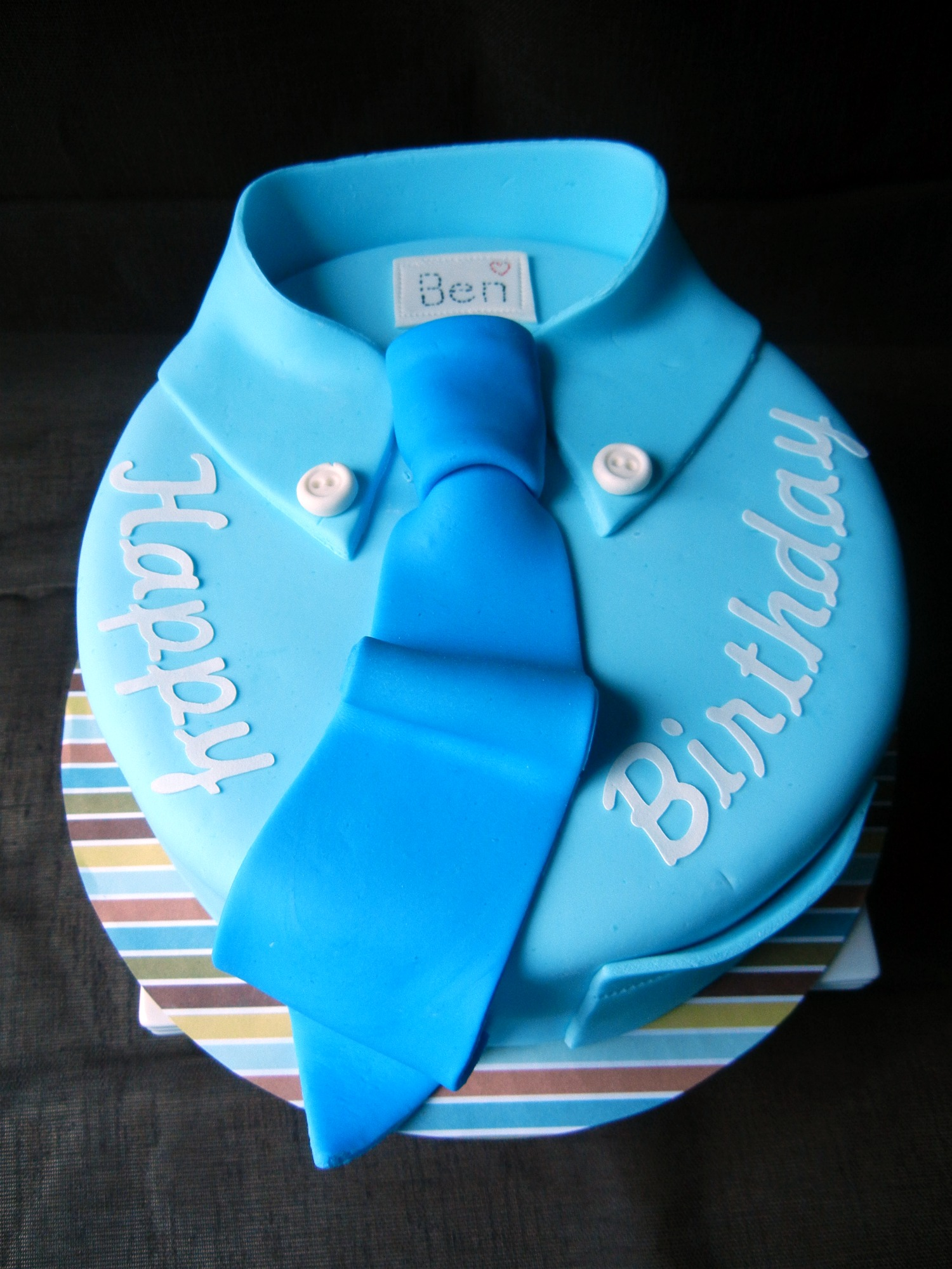 tie cake I   ve made  I like how this one came out  Vanilla cake    Happy Birthday Cake For Men