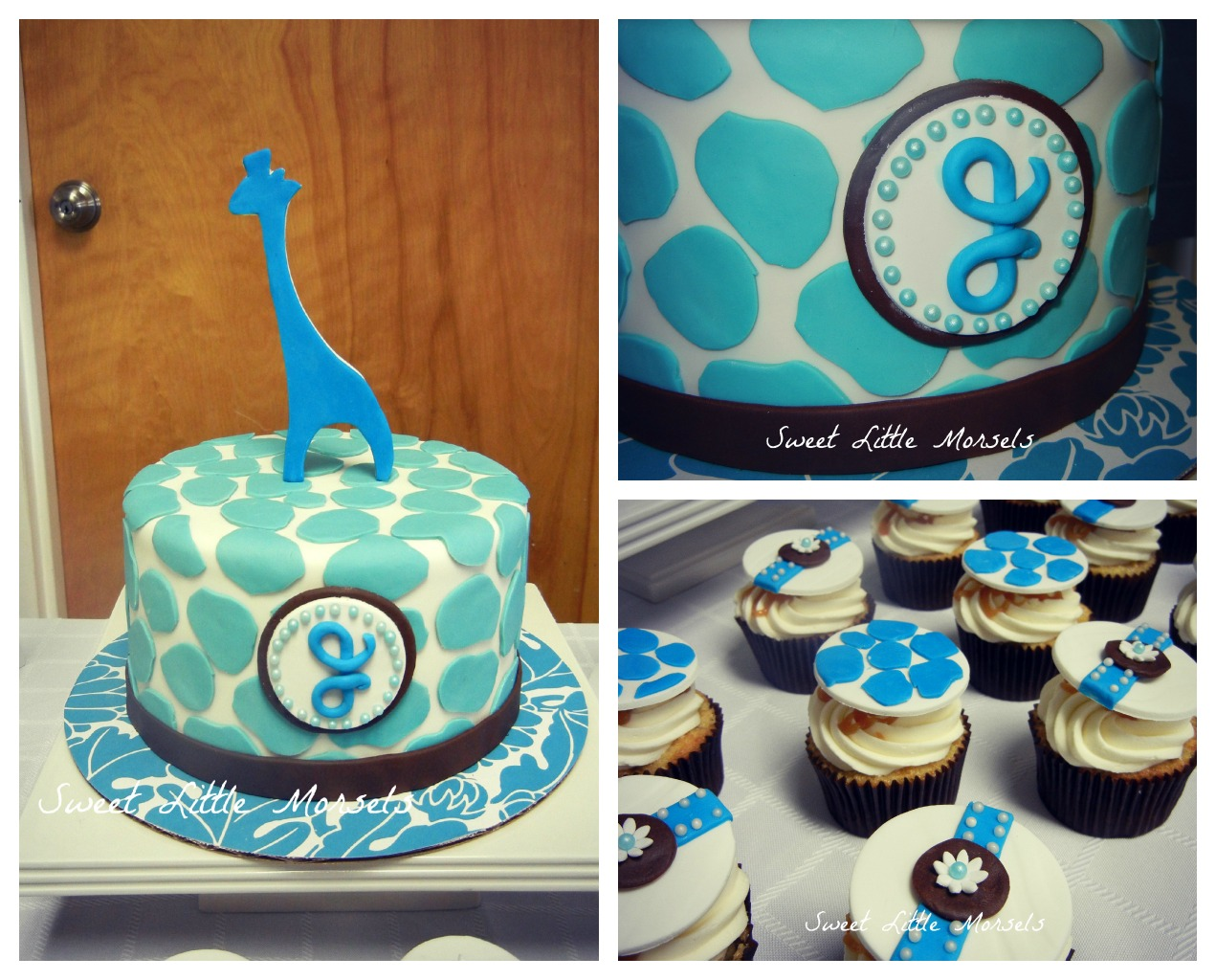 pin giraffe theme baby shower cake and cupcakes cake on pinterest