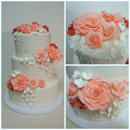 PicMonkey Collage - coral rose wedding cake